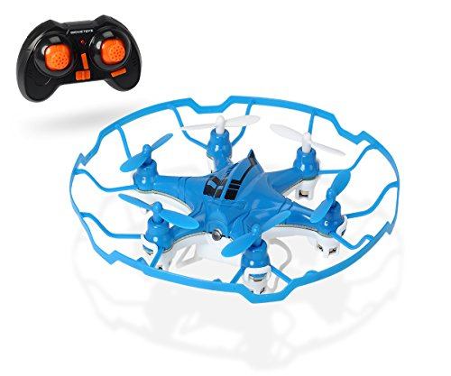 Dickie Toys 201119436 - RC DT-Q6A Axis Quadrocopter, funkferngesteuerter Quadrokopter, 10 cm