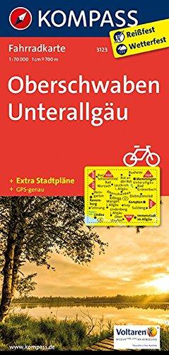 Carta cicloturistica n. 3123. Obershwaben, Unterallgäu 1:70.000. Adatto a GPS. Digital map. DVD-ROM