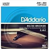 D'Addario EJ62 80/20 10 - 34 Bronze Light Mandolin String
