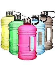 Water Jug–Deportes de Agua Botella Portátil Bidón Water Gallon Botella, plástico sin BPA–Deportes botella, azul claro