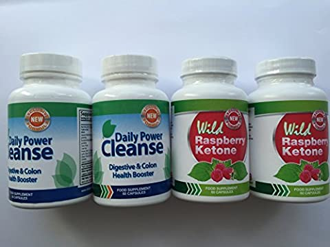 Wild Raspberry Ketone - WILD RASPBERRY KETONE (2x60Caps & DAILY POWER