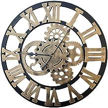 e2933f5cae2f0 PHYNEDI Horloge Murale Diamètre 60 cm Horloge Engrenage Décoratif Grande  Horloge Pendule Murale en ...