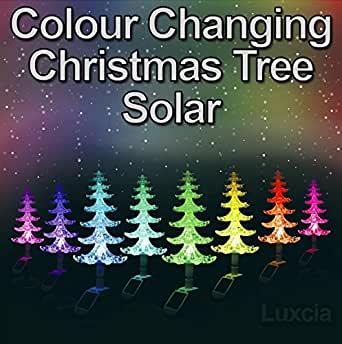 Christmas solar powered colour changing christmas tree light xmas christmas solar powered colour changing christmas tree light xmas garden festive decoration light aloadofball Gallery