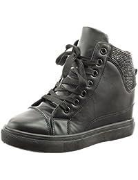 Chaussure Noire Femme Compensee Findlay Basket ARq354jL