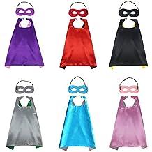 Costumi Signstek, per bambini, per feste di compleanno, con mantello e maschera, confezione da 6.