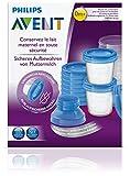 Philips AVENT SCF618/10 Aufbewahrungssystem für Muttermilch, 10 x 180 ml Becher inklusive Deckel, Adapter - 5