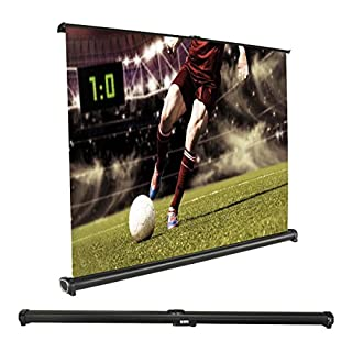 Projector Screen, Auledio Portable Manual Pull Down 30 Inch 16:9 Movie Projection Screens for Home Cinema, Office, Outdoor Travel