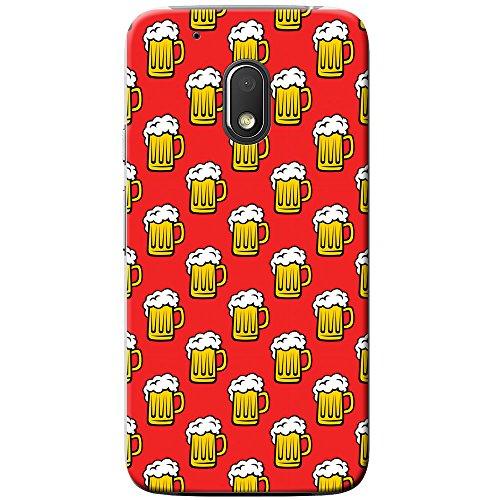 Schaumige weiße Krone auf gelbem Bier Hartschalenhülle Telefonhülle zum Aufstecken für Motorola Moto G4 Play