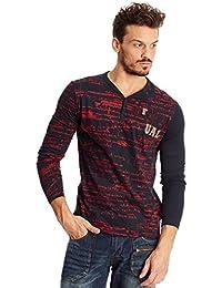 ccc3c1a6ef671 Desigual Camiseta Manga Larga Daniel Rep Azul Marino Rojo L