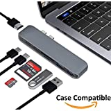 USB C Hub, Elecstars USB C Adapter, Multiport USB C To HDMI Adapter With Type C Charging Port, USB 3.0 Ports, SD/TF Card Reader, 3.5mm Audio/Mic 2in1, For New MacBook Pro, Google Chromebook And More
