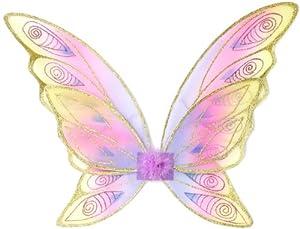 Grandes imitaciones -  alas de mariposa arcoiris para disfraz de hada (a partir de 2 años)