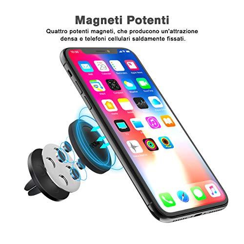 Mpow [2 Pezzi] Supporto Magnetico Auto Universale [Garanzia A Vita] Supporto Auto Smartphone Porta Telefono per Tutti Gli Smartphone e GPS, iPhone, Galaxy, Huawei P9, Nota, LG, Nexus, HTC - 3