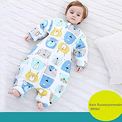 Saco de dormir para bebé con patas cálidas forradas en invierno de manga larga para invierno con pie de 3,5 tog