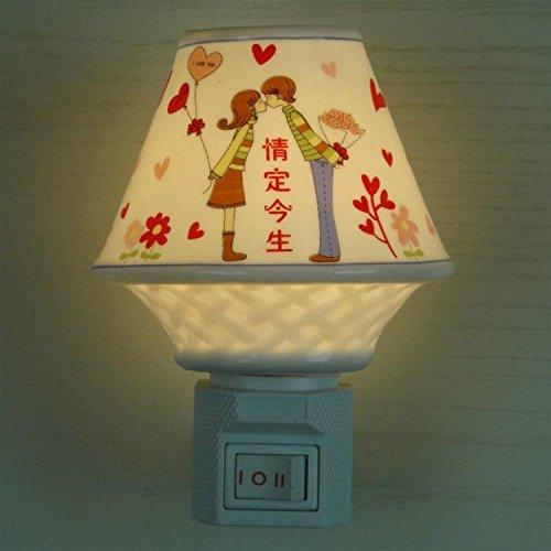FAYM-Keramik Aromatherapie Ätherisches Öl Kleine Stecker In Der Nacht Licht Lampe Nachttischlampe Beleuchtung Kreative Geschenke