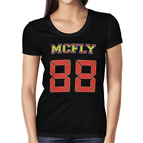 TEXLAB - McFly 88 - Damen T-Shirt Schwarz