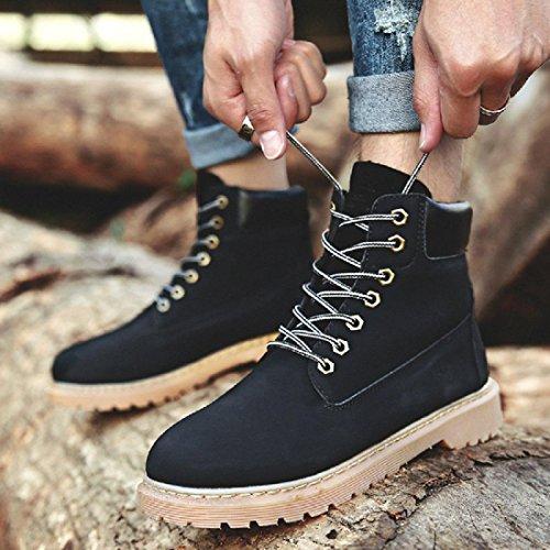 Hommes Chaussures De Randonnée Mode Martin Bottes Bottoms Épais Bottes Pour Outils Antidérapants Chaussures Haute Euro Taille 38-44 Noir
