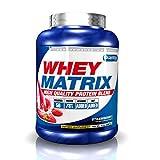 Quamtrax Nutrition Whey Matrix, Sabor Fresa - 2270 gr