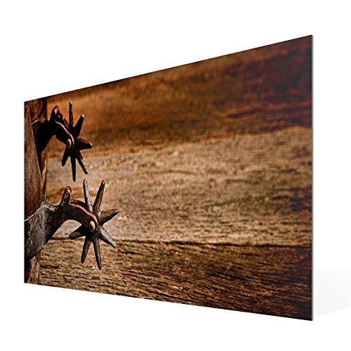 banjado - Scheibe zum Wechseln 56x26cm für Ikea Gyllen Leuchte Wandlampe Sporen, Motivscheibe Wechselscheibe
