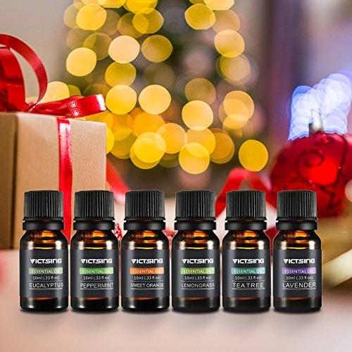 6 pcs Aceites Esenciales Perfumado de VicTsing  Aceites Esenciales 100 % Puros  Ideal a masajes  difusor Aromaterapia  SPA  Yoga  etc