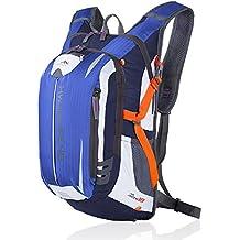 MYC Yi Lian sport esterni di guida zaino 18L Borsa tracolla bicicletta pieghevole zaino leggero nylon impermeabile con sistema di casco, escursione di campeggio esterna Sport Ciclismo Backpack (deep Blue)