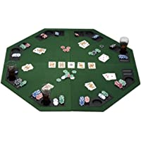 eSecure - 1.2m/48 Large Poker Table Top for 8 Players with Poker Chip Trays and Drink Holders (Foldable)