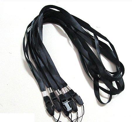 CKB Ltd 50 x Black Negro Laccetto Portabadge Laccio da collo Laccetti Multiuso per PortaBadge Cellulare Lanyard Neck Strap For ID Card / Mobile Phone /Gym Key / Access Pass Holder Loop Clip