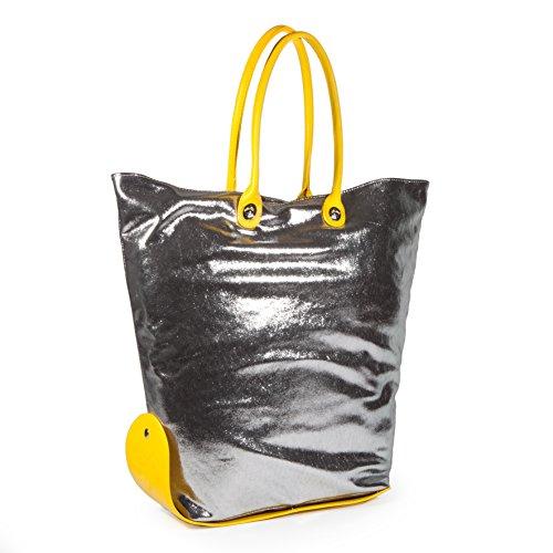 CACO Design One Bag 15-16 Glitter, Borsa a Spalla Donna, 43 x 60 x 10 cm (W x H x L) Grigio