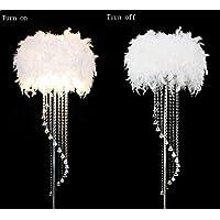LightSei- Feder Fußboden Lampe Metall Kristall Troddel E27 LED Fußboden Licht Klassisches Dekoratives Geschenk... preisvergleich bei billige-tabletten.eu