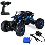TFPS Rock Crawler 1:18 Scale 4Wd Rally Car With Strong Suspension And Big Wheels - Blue