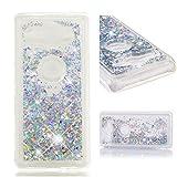 BONROY Hülle Dynamisch Glitzer Kratzfest Silikon Schutzülle Schale Luxus handyschalen Shiny Cover für Sony Xperia XZ2 Compact-(Silber)