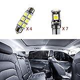 per A5 S5 Super Luminoso Sorgente luci Interne a LED Lampada per Auto abitacolo Lampadine di Ricambio Bianca Confezione da 11