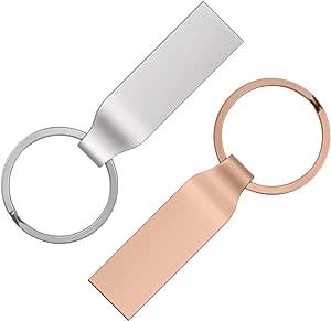 8 GB Chiavetta USB Alta Velocità Pen Drive 8Giga Uflatek 2 Pezzi Penne USB 3.0 Argento Oro rosa Pennetta USB 8 Giga Chiavette USB 8GB