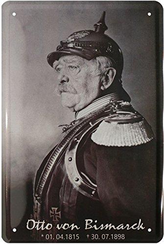 Otto von Bismarck Deutsches Reich Kanzler Blechschild 20 x 30 Retro Blech 1771