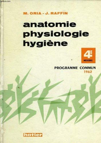ANATOMIE ET PHYSIOLOGIE, MICROBIOLOGIE ET SECOURISME, HYGIENE, CLASSES DE 4e MODERNE ET TECHNIQUE