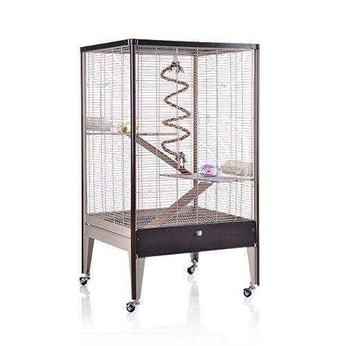 Montana Cages ® | Happy Home 66 A - Choco-Vanilla/Oak MONTANA Degu Chinchilla Nagerheim