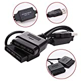 Gimax 2 in 1 Dual USB Ports für Sony PS1 PS2 auf PC USB 2.0 Controller Adapter Konverter Adapter für Sony PS2 Controller Konsole
