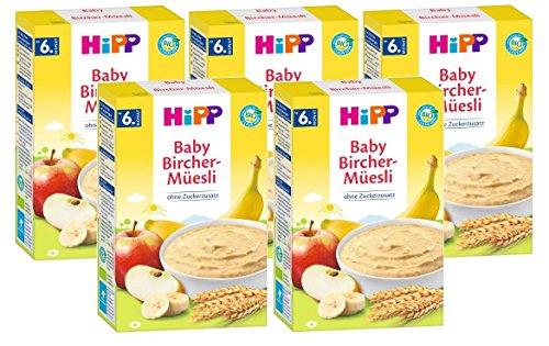 Hipp organico e cereali Buongiorno polenta Bircher muesli, 5-pack (5 x 250g)
