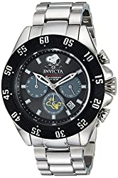 Invicta Mens Character Collection Quartz Stainless Steel Casual Watch, Color:Silver-Toned (Model: 25010)