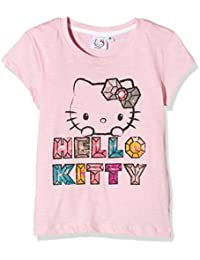 Hello Kitty Girl's Fabulous Plain Short Sleeve Crew Neck T-Shirt