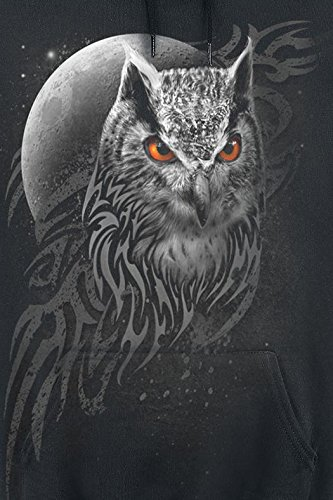 Spiral Wings Of Wisdom Sweat à capuche noir Noir