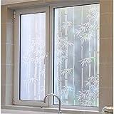 Privatsphäre Bambus Muster Fenster Aufkleber Self Adhesive Statische Glas Fenster Jalousien für Schlafzimmer Badezimmer Wohnzimmer Büro DIY Zubehörset