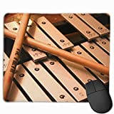 BAOQIN Mouse Pad,Non-Slip Mouse Pad Rectangle Rubber Mousepad Xylophone Print Gaming Mouse Pad
