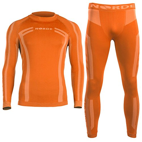 Norde Herren Funktionswäsche Thermoaktiv Atmungsaktiv Base Layer Set Outdoor Radsport Run