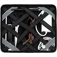 TecStyle Organizer Mappe für Rucksack, Tasche, Auto Rücksitz etc I Organizer Case für Elektronik, Tablet, Smartphone, Dokumente, Zubehör I Schwarz