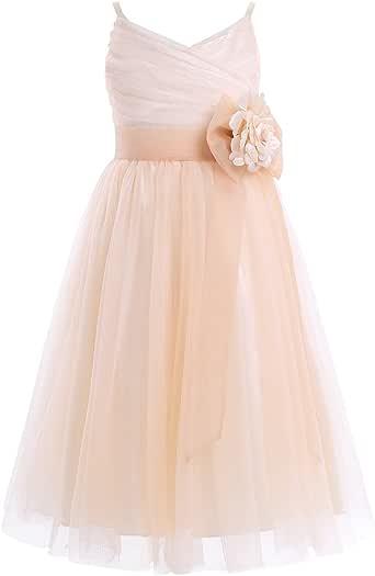 TiaoBug TiaoBug Mädchen Kinder langes Kleid festlich ...