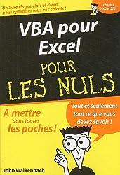 VBA pour Excel pour les nuls