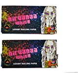 Nirvanaa White King Size Slim 33 Leaves Luxury Rolling Paper/Smoking Paper +Tips (Pack Of 2)