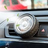 Auto Luftreiniger, Runde Rad Drehen Vent Clip Auto Diffusor Lufterfrischer Mit 2 Aroma Blatt Ersatz