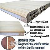 Pets Imperial® Große, isolierte Norfolk Hundehütte aus Holz mit entfernbarem Boden zur einfachen Reinigung DE - 6