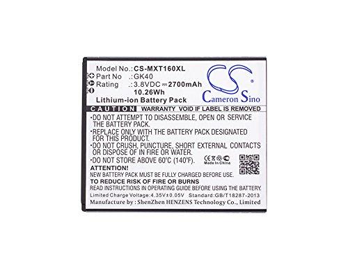Cameron fino - Batteria agli ioni di litio per Motorola Moto G4 Play, XT1607, XT1609, XT1600, compatibile con Motorola GK40